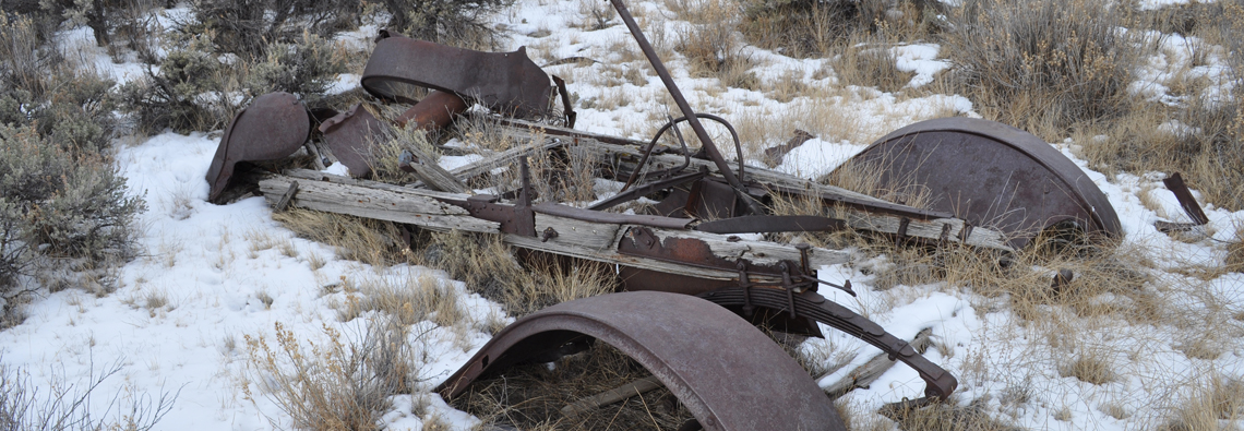 Photography - Relic of farm vehicle or rusted automobile taken in Twin Lakes, Colorado